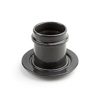 Minimalistic Ceramic Coffee Cup And Saucer Set