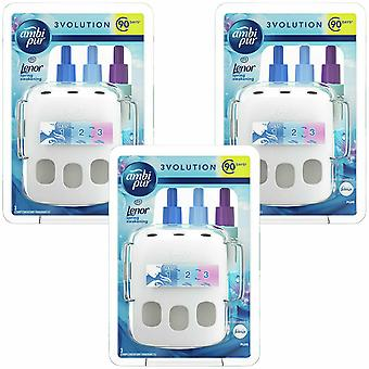 Ambi Pur 3Volution Lenor Spring Awakening Fragrance Starter kit, 3 Pack of 20ml