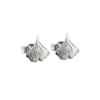 Oorbellen Studs Ginkgo Leaf Silver 925