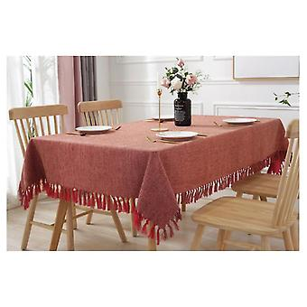 Cotton And Linen Tablecloth, Pastoral Rectangular Round Plain Tablecloth, Tea Table Cloth, Simple Tablecloth, Bamboo
