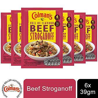 6 Pack Colman's Recipe Mix Beef Stroganoff, 43g
