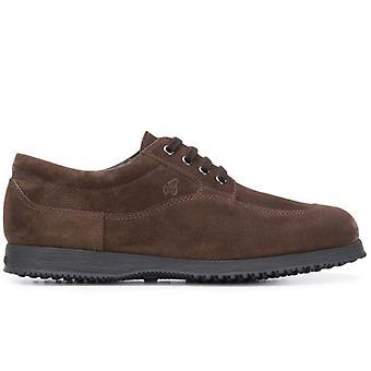 Hogan Traditionella Mörkbrun Mocka Sneakers