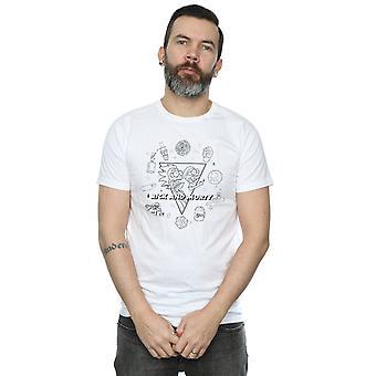 Rick ja Morty miesten 's pelottaa ääriviivat t-paita