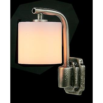 Dolls House Brushed Metal Wall Light Drum Shade Modern Electric 12v Éclairage