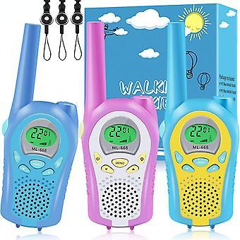 3 Πακέτο talkie talkies για τα παιδιά, 3 χιλιόμετρα μεγάλης απόστασης σαφή ήχο & εύκολο στη χρήση παιχνίδια ενδοεπικοινωνίας, 8 κανάλια