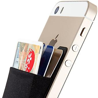 Sinjimoru card holder for back of phone, stick on wallet functioning as credit card holder, cell pho