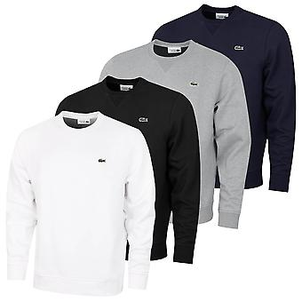 Lacoste Mens 2021 Sport Soft Cotton Blend Ribbed Collar Fleece Sweater