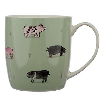 Collectable porcelain mug - willow farm pigs