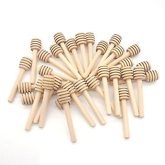 8cm mâner lung lemn miere se amestecă bar practice de amestecare Stick Jar Spoon Consumabile