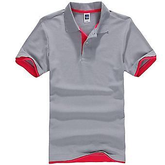 Nyári póló ing, férfi alkalmi pamut férfi's lélegző rövid ujjú póló ruhák