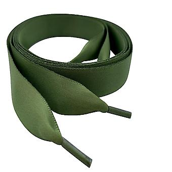 Khaki Satin Ribbon Shoelaces Laces