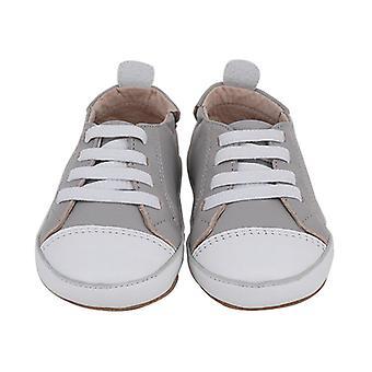 SKEANIE Pre-walker Leather Hamilton Sneakers in Grey