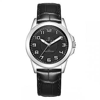 Hombre de CerTus 610748 reloj - negro cuero