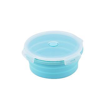 Round sealed lunch box Round multifunctional box Silicone folding fresh-keeping box