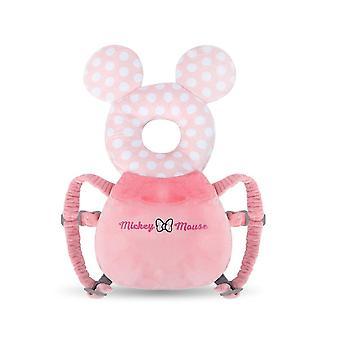 Almohadilla de seguridad protector de cabeza de bebé, arnés de almohada oso conejo cabeza de bebé