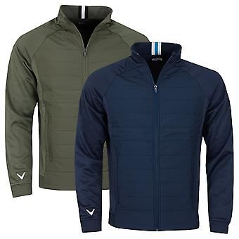 Callaway Golf Mens 2021 Mixed Media Quilted Stretch Jacket