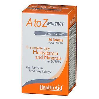 Health Aid Multivitamines et Minéraux A-Z 90 Comprimés