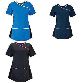 Alexandra Womens/Ladies Medical/Healthcare Stretch Scrub Top (Pack of 2)