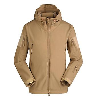 Winter Shark Skin Military Tactical Softshell Jacket, Men Army Coat,