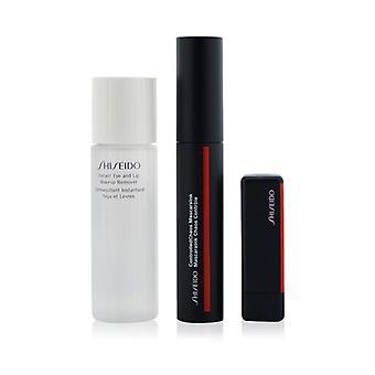 Shiseido Controlled Chaos MascaraInk Set (1x hallittu kaaos ripsiväri, 1x moderni mattajauhe huulipuna, 1x instant eye ja huulimeikinpoistoaine) 3kpl