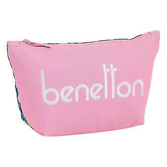 School Toilet Bag Benetton Blooming Pink
