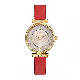 Jean Paul Gaultier Dameshorloge - CLA0778PTPR - Rode Lederen Armband