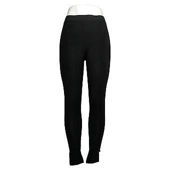 Carole Hochman Cotton Pull-On Leggings Black A255531