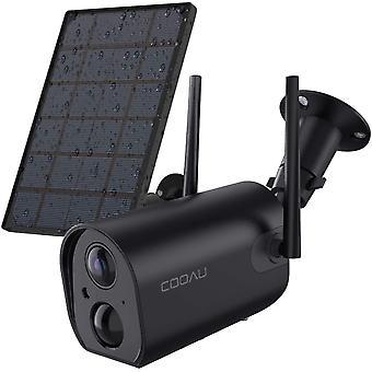 HanFei 15000mAh Akku berwachungskamera mit Solarpanel, 1080P Kabellos Wiederaufladbare WLAN IP Kamera
