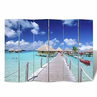 vidaXL غرفة مقسم قابل للطي 240 × 170 سم الشاطئ