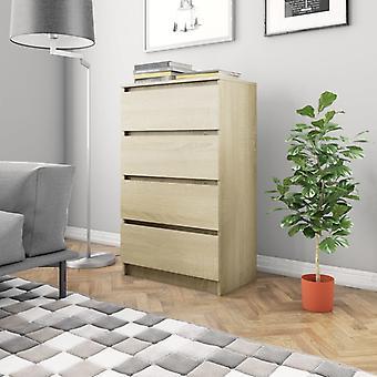 vidaXL Sideboard Sonoma Oak 60×35×98.5 cm Chipboard