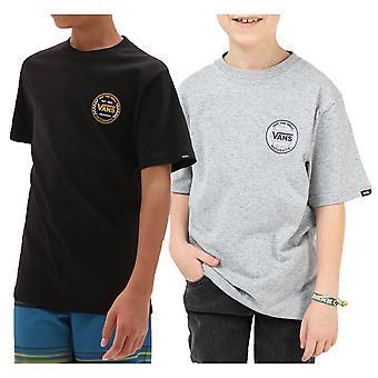 Vans Boys Authentic Checker Casual Crew Neck Cotton T-Shirt Top Tee