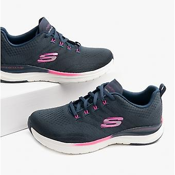 Skechers Ultra Groove Pure Vision Ladies Mesh Trainers Navy/hot Pink