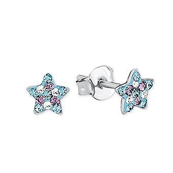 Princess Lillifee kids star-shaped earrings, in silver 925 multicolored rhodium - 2013175