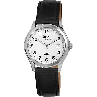 Just Watches men's-Wristwatch XL Analog leather 48-S11025-WZ