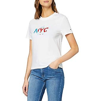 Tommy Jeans Tjw NYC Tee T-shirt, White Ybr, 36 (One Size: XX-Small) Woman