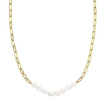 NOELANI Women's necklace in sterling 925 gold-plated silver, with pearl