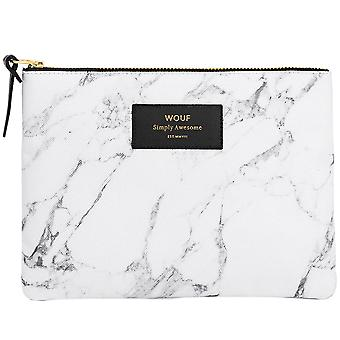Wouf White Marble Large Pouch