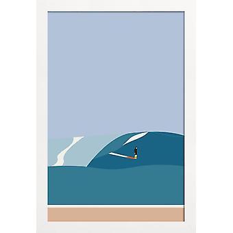 JUNIQE Print -  Fornøjelse Surf No. 03 - Surfen Poster in Bunt
