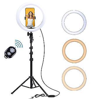 Lumière lumineuse de caméra de selfie de led d'Usb avec le support de 160cm