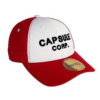 Dragon Ball Basecap Capsule Corp. rood/wit, geborduurd, 100% polyester.