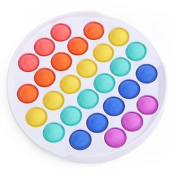 2Pcs جولة ملونة دفع البوب فقاعة لعبة تململ الحسية، وتخفيف التوتر والأدوات المضادة للقلق للأطفال والبالغين az7709