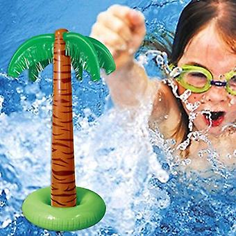 Piscine gonflable de palmiers tropicaux, jeu de décor de fête de plage, fournitures de plein air