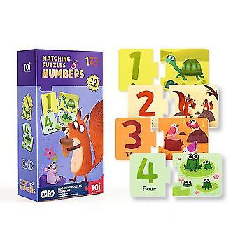Number cognitive matching puzzles children's educational paper puzzles dt5300
