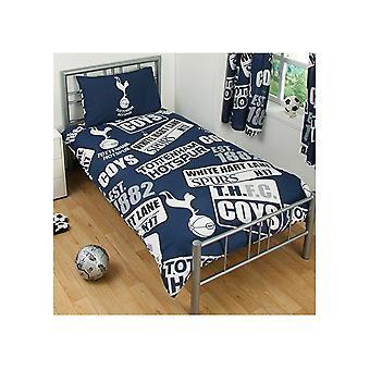 Spurs Patch einzelne Bettdecke und Kissen Set