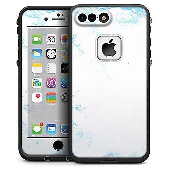 Marbleized Blue Border V2 - Iphone 7 Plus Lifeproof Fre Case Skin Kit