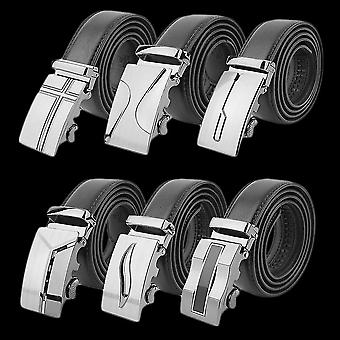 Classical Automatic Belt Buckle Genuine Leather Belts Mens Waist Strap