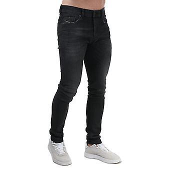 Herren Diesel Tepphar-X Slim Jeans in Schwarz