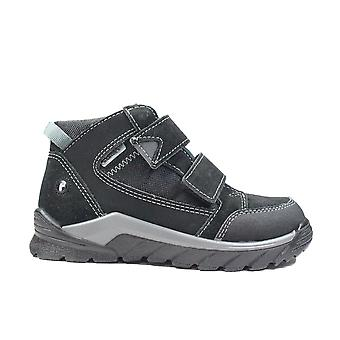 Ricosta Marvi 4720500-099 Black Nubuck/Textile Leather Boys Water Resistant Ankle Boots
