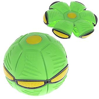 Lysande Ufo tefat boll deformerad flygande platt kasta skiva boll frisbee utomhus sportspel leksak (grön)