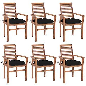 vidaXL כיסאות אוכל 6 יח'.